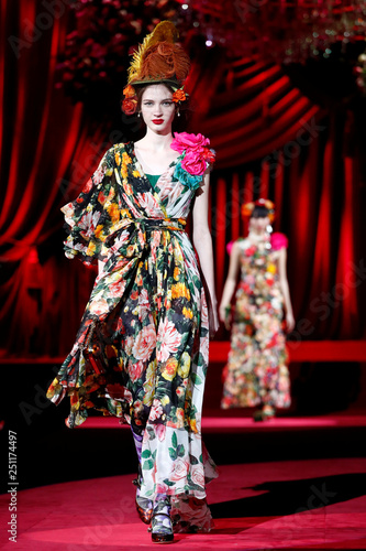 be7d553f2793 Dolce & Gabbana at Milan Fashion Week - Buy this stock photo and ...