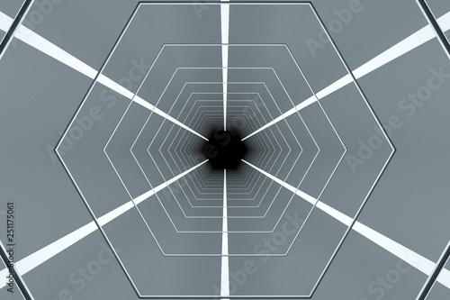 wnętrze przyszłego tunelu, 3d render