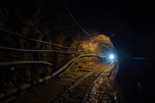 Underground Gold Ore Mine Shaf...