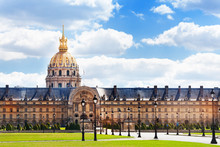 Invalides Building And Square In Paris, France