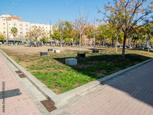 Papel de parede  Jardines de Can Xiringoi - Cotxeres- Nou Barris (Barcelona)