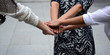 Close-up photos Businessmen or colleagues Made a handshake To demonstrate the team's ability to work together