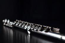 Glossy Silver Transverse Flute...