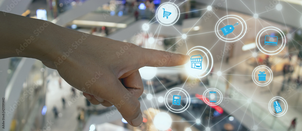 Fototapeta The AR market continues to evolve, with most companies focused primarily on enterprise use cases that drive real-world gains for companies operating in a wide range of markets in retail
