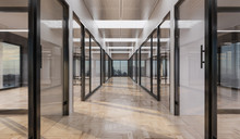 Empty Offices With Glass Doors...
