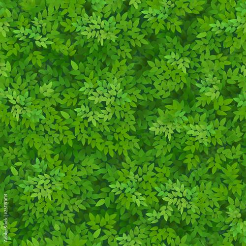 Türaufkleber Künstlich Seamless green foliage pattern.