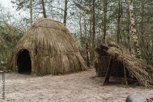 Prehistoric primitive camp site Fototapet