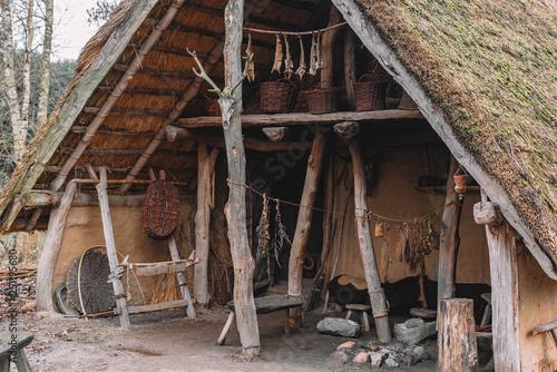 Stone age farmers house Tablou Canvas