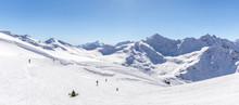 Panorama View From Ski Slope Elbrus, Russia