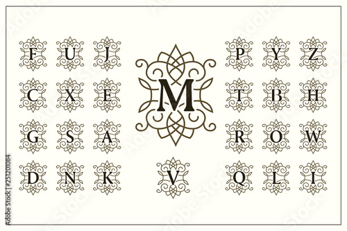 Photo Set of Elegant Capital Letters