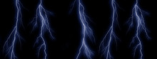 Five Blue Lightning Bolts On B...