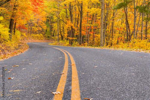 Autumn along the Blue Ridge Parkway, Virginia Fototapeta