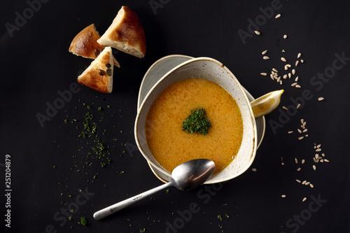 Fototapeta Carrot soup. obraz