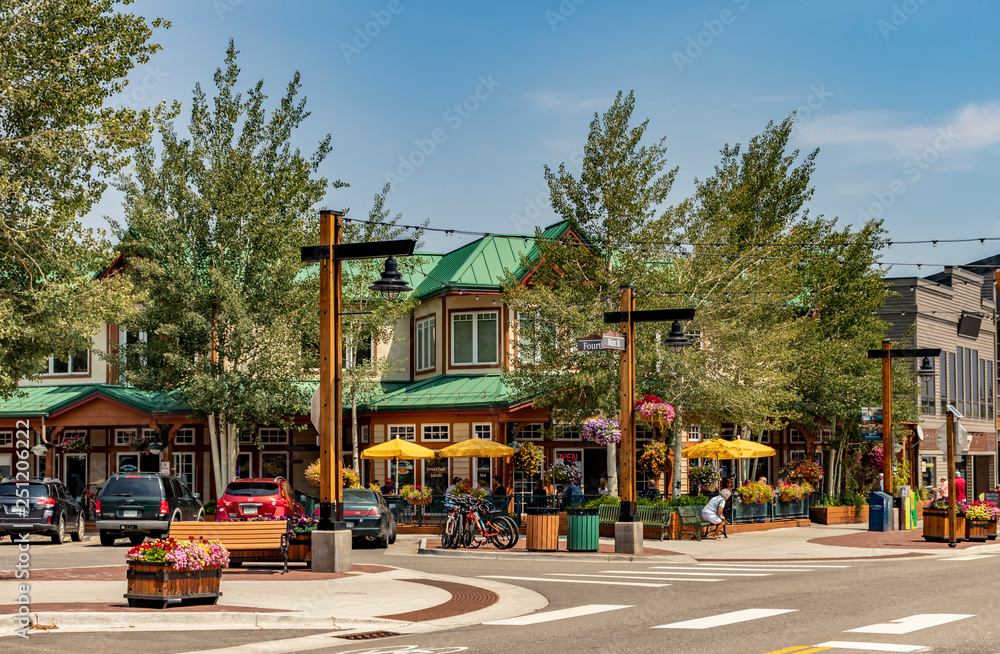 Fototapety, obrazy: Main Street, Downtown Frisco, Colorado. A quaint and popular ski resort town in summertime.