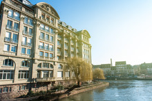 Luxury Esca Condominium Apartment Building Built By Architect Adolphe Wolff In 1934 On The Ill River In Central Strasbourg