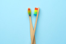 Photo Of Two Wooden Toothbrush...