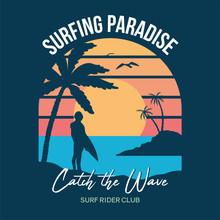 Surf Sunset Print