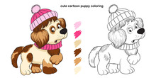 Cute Cartoon Puppy Coloring Book For Kids Creativity.