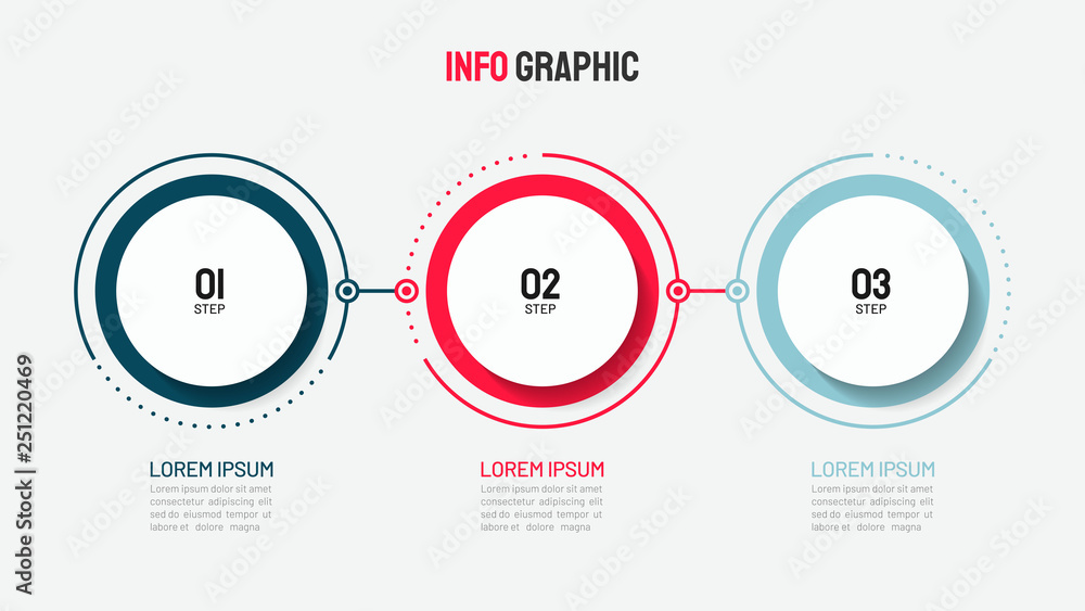 Fotografía Timeline infographic design with circle for business template
