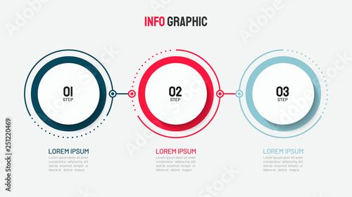 Timeline infographic design with circle for business template Canvas Print
