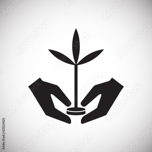 Grow icon on white background for graphic and web design