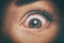 Eye Peeking Through Peep Hole ...
