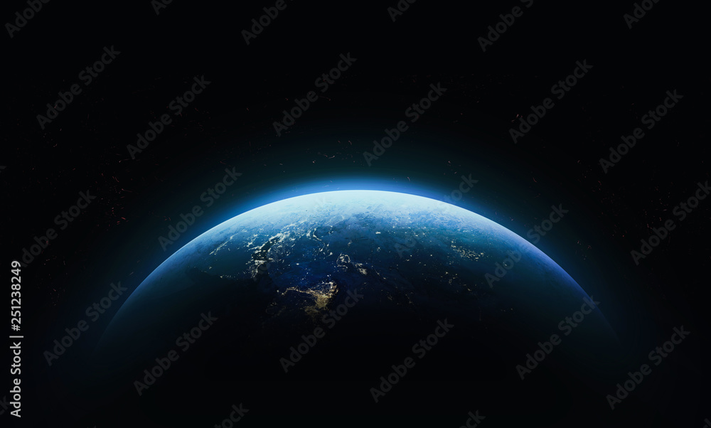 Fototapety, obrazy: Planet Earth in outer space. Civilization. Elements of this image furnished by NASA