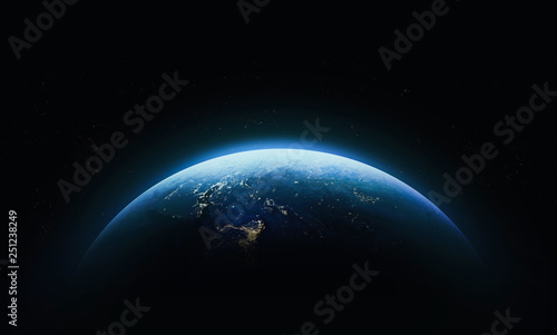 Foto op Aluminium Heelal Planet Earth in outer space. Civilization. Elements of this image furnished by NASA