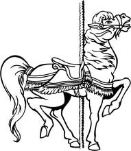Carousel Horse Vector Illustra...