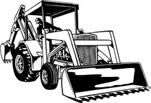 Front Loader Vector Illustration