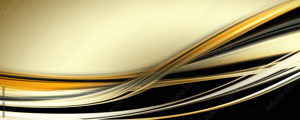 Fototapeta Abstract elegant wave panorama design with space for your text