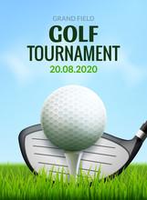 Golf Tournament Poster Templat...