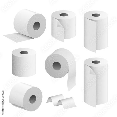 Fotografía Toilet paper roll tissue