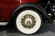 Wheel Of An Antique Car