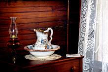 Wash Basin And Kerosine Lamp