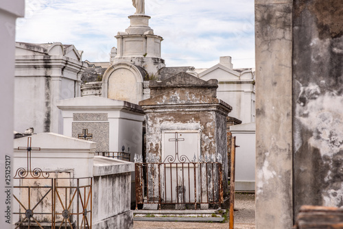 Beautiful above ground graves in the famous St  Louis Cemetery