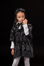 Little Girl In A Hood And A Da...