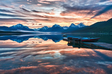 Sunrise Lake McDonald, Glacier...