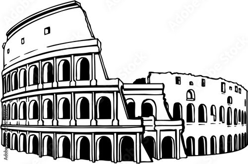 Fotografía Coliseum Vector Illustration