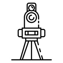 Cadastral Equipment Icon. Outline Cadastral Equipment Vector Icon For Web Design Isolated On White Background