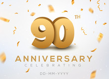 90 Anniversary Gold Numbers Wi...
