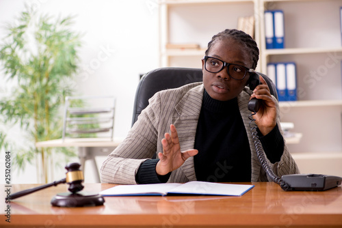 Fotografie, Obraz  Black female lawyer in courthouse