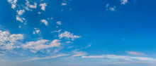 Panorama Of Peaceful Blue Sky ...