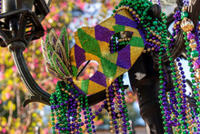 Outdoor Mardi Gras Beads And M...