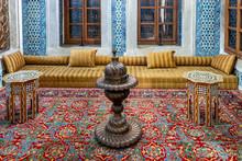 Old Turkish Ottoman House Living Room And Stove