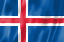 The Flag Of Iceland. The Offic...