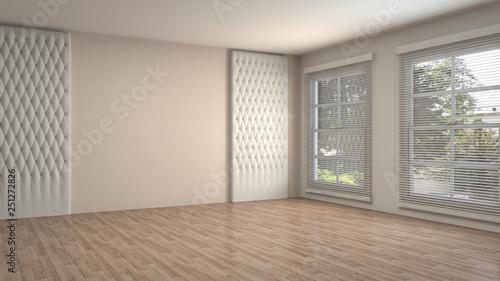 Obraz Empty interior. 3d illustration - fototapety do salonu