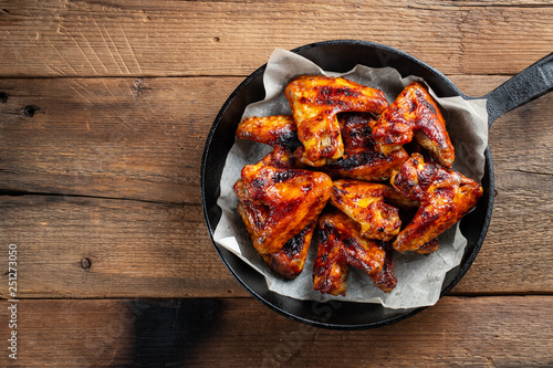 Baking chicken wings in a cast iron skillet