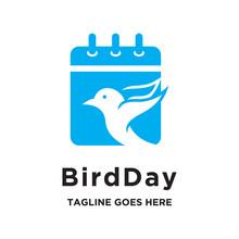 Bird With Calendar Logo Icon V...