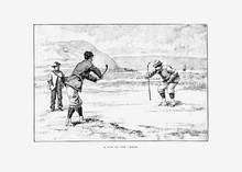 Golfers Vintage Drawing